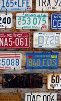 Dimex Plate Numbers Vlies Fotobehang 150x250cm 2-banen