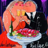 PGM El van Leersum - True Love Kunstdruk 70x70cm