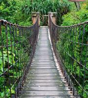 Dimex Footbridge Vlies Fotobehang 225x250cm 3-banen