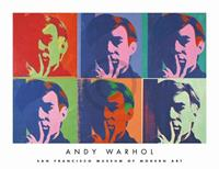 PGM Andy Warhol - A Set of Six Self-Portraits Kunstdruk 86x66cm