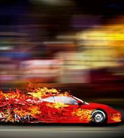 Dimex Speeding Car Vlies Fotobehang 225x250cm 3-banen
