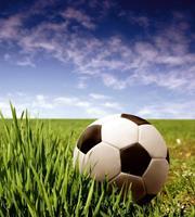 Dimex Soccer Ball Vlies Fotobehang 225x250cm 3-banen