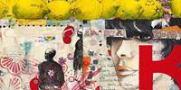 PGM Birgit Lorenz - Citrus Lettern Kunstdruk 100x50cm