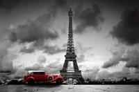 Dimex Retro Car in Paris Vlies Fotobehang 375x250cm 5-banen