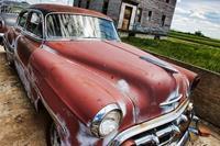 Dimex Veteran Car Vlies Fotobehang 375x250cm 5-banen
