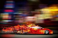 Dimex Speeding Car Vlies Fotobehang 375x250cm 5-banen