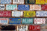 Dimex Plate Numbers Vlies Fotobehang 375x250cm 5-banen