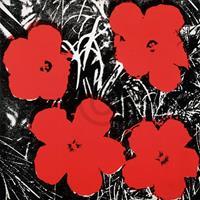 PGM Andy Warhol - Flowers Red 1964 Kunstdruk 91x91cm