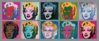 PGM Andy Warhol - Ten Marilyns 1967 Kunstdruk 134x56cm