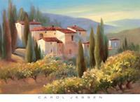 PGM Carol Jessen - Blue Shadow in Tuscany II Kunstdruk 91x66cm