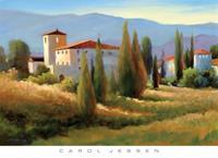 PGM Carol Jessen - Blue Shadow in Tuscany I Kunstdruk 91x66cm