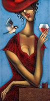PGM Ira Tsantekidou - Rose d'Anjou 2 Kunstdruk 50x100cm