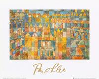 PGM Paul Klee - Tempelviertel von Pert, 1928 Kunstdruk 30x24cm