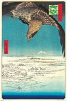 GBeye Hiroshige Jumantsubo Plain at Fukagawa Poster 61x91,5cm