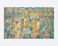 PGM Paul Klee - Tempelviertel von Pert, 1928 Kunstdruk 50x40cm
