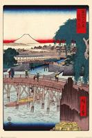 Pyramid Hiroshige Ichikoku Bridge In the Eastern Capital Poster 61x91,5cm