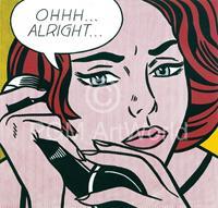 PGM Roy Lichtenstein - Oh Alright Kunstdruk 35.5x28cm