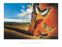 PGM Salvador Dali - Paysage aux Papillons Kunstdruk 80x60cm