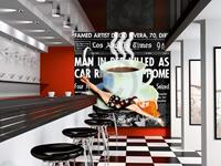 PGM Marcel Terrani - Give me all your coffee Kunstdruk 70x70cm