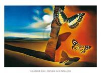 PGM Salvador Dali - Paysage aux papillons Kunstdruk 120x90cm