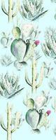 Komar Cactus Blue Vlies Fotobehang 100x250cm 1-baan
