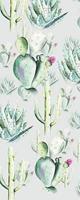 Komar Cactus Grey Vlies Fotobehang 100x250cm 1-baan