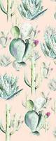 Komar Cactus Rose Vlies Fotobehang 100x250cm 1-baan