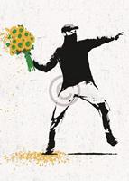 PGM Edition Street - Flower thrower Kunstdruk 50x70cm