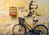 PGM Edition Street - No self no fear Kunstdruk 50x70cm