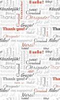 Dimex Thank You Vlies Fotobehang 150x250cm 2-banen