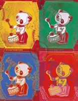 PGM Andy Warhol - Four Pandas 1983 Kunstdruk 65x84cm