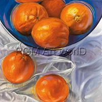 PGM Thomas Freund - Orange bowl Kunstdruk 98x98cm