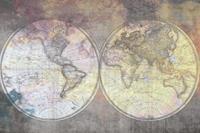 Dimex Wold Map Abstract I Fotobehang 375x250cm 5-banen