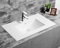 Fontana Latina keramische wastafel 100cm met kraangat wit glans
