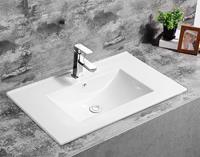 Fontana Latina keramische wastafel 80cm met kraangat wit glans