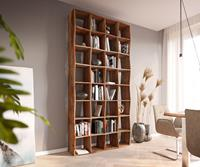 DELIFE Bücherregal Live-Edge 240x120 cm Akazie Natur Massivholz