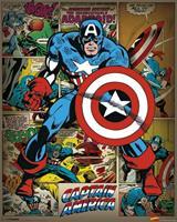 Pyramid Marvel Comics Captain America Retro Poster 40x50cm