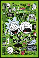 Pyramid Rick and Morty Quotes Poster 61x91,5cm