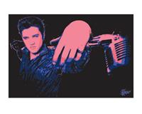 Pyramid Elvis Presley Microphone Kunstdruk 40x50cm