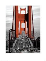 Pyramid Golden Gate Bridge San Francisco Kunstdruk 60x80cm