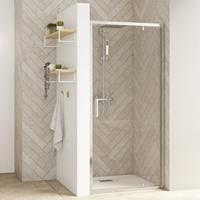 KINEDO Douche Schuifdeur SMART DESIGN 1 deur, met drempel, nis, hoek, tegen een muur, P
