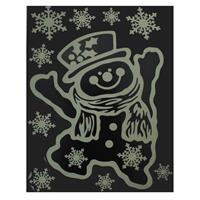 PEHA Stickerset Sneeuwpop Glow In Dark 29,5 X 40 Cm Wit